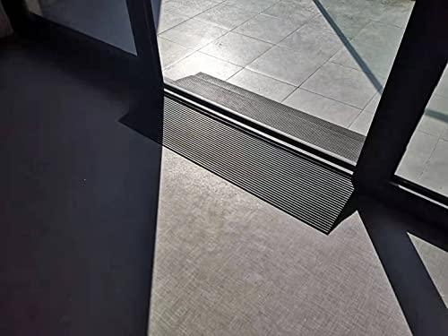 Ruedamann高さ4㎝奥行20㎝段差解消スロープ天然ゴムスロープ車椅子室内ガレージの高低差敷居浴室適用DIY裁断可能耐荷重500Kg