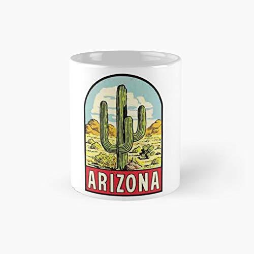 Arizona Vintage Travel Decal Classic Mug Birth-day Holi-day Gift Drink Home Kitchen