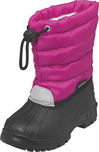 Playshoes gefütterte Kinder Winterstiefel, warme Schneestiefel mit Innenfutter , Pink (18 pink) , 28/29