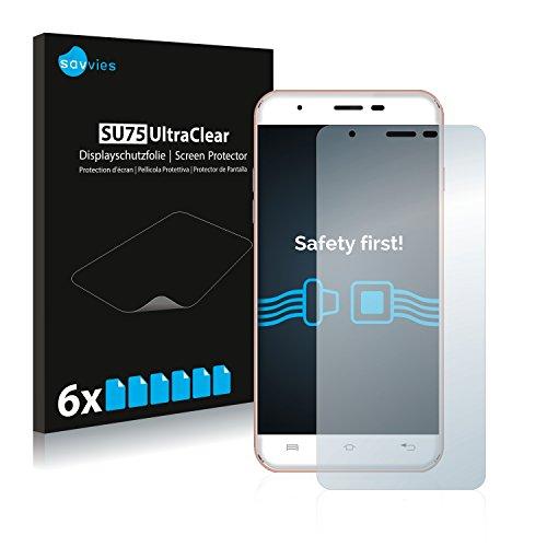 Savvies 6X Schutzfolie kompatibel mit Oukitel U7 Plus Bildschirmschutz-Folie Ultra-transparent