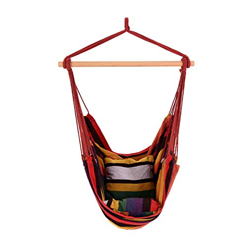 Shoze Hammock Camping Hammock With Stand And Cushioned Hammock Outdoor Camping Hammock Portable Beach Hammock Suitable For Travel Camping Backyard Porch Outdoor Indoor Use Multicolour