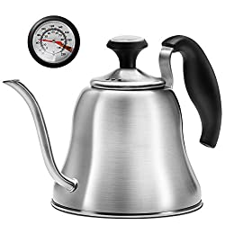 professional Chef bar kettle with stove thermometer, gooseneck kettle, small coffee icing …