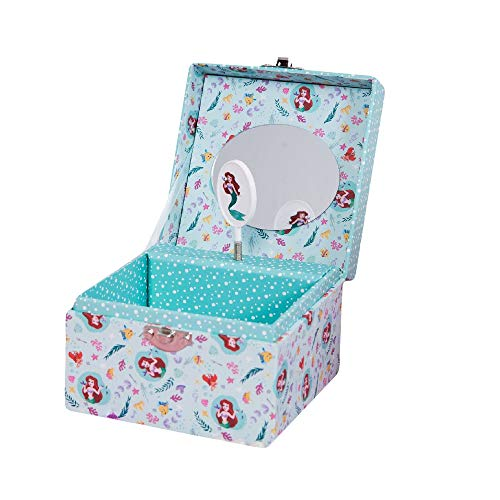 Disney Widdop Princess Ariel Little Mermaid Small Cube Musical Jewellery Box Girls Gift DI312