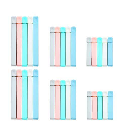 30 stück Verschlussclipse, Verschluss Clips Verschlussklammern aus Kunststoff in 3 Größen, Tütenverschluss, Verschlussklammern für Tüten