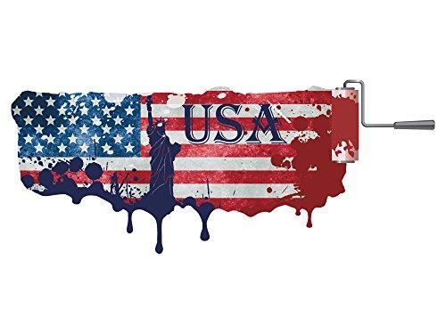 GRAZDesign Wandaufkleber Amerika - Selbstklebendes Wandbild Freiheitsstatue - Wandtattoo Flagge / 139x57cm / 721199_57