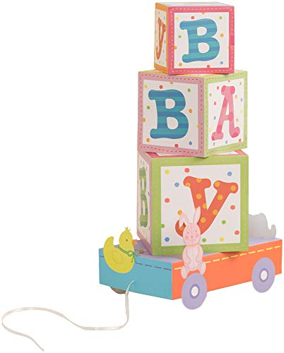 Simplicity Paper Building Blocks Baby Shower Centerpiece