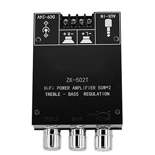 Canjerusof Amplificador de Audio estéreo Bluetooth 5.0 Módulo Receptor Junta Canal 2 TPA3116D2 Mini Wireless AUX Amp para el Bricolaje