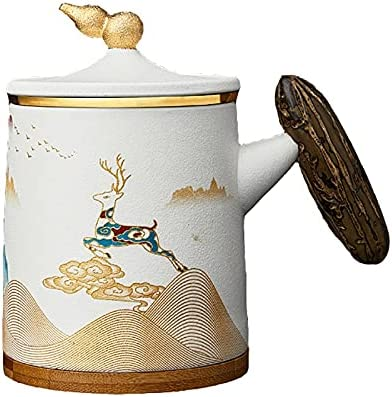 Ceramic Tea Maker Cup With Lid and Dishwasher Mail order cheap 5 ☆ popular Basket