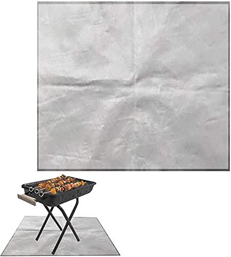 Alfombra de Protección de Suelo, Resistente Al Fuego BBQ Splatter Mat Almohadilla de Escudo Térmico Al Aire Libre, para Barbacoa Exterior Jardín Terraza, 100 x 150 cm