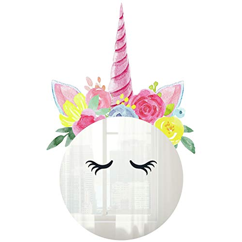 RoomMates Floral Unicorn Mirror Wall Decals