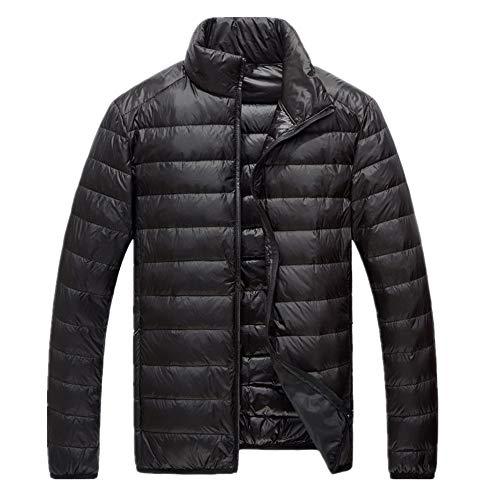 Hombres otoño e invierno abajo algodón acolchado chaqueta de los hombres cuello de pie acolchado de algodón chaqueta de color sólido de gran tamaño de algodón acolchado chaqueta