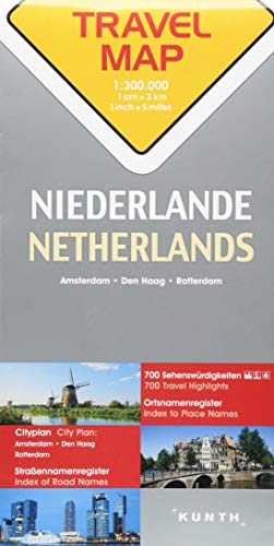 Reisekarte Niederlande 1:300.000: Travel Map Netherlands