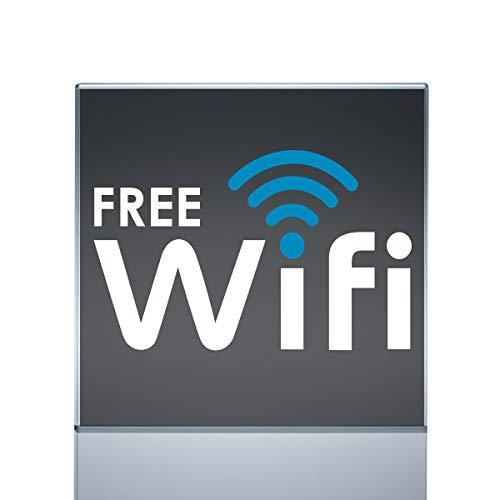 "Free WiFi Vinyl Sticker Decal Sign Hotspot for Window & Doors (6""x3.7"")"