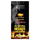 Best of the West All-Natural Mesquite Lump Charcoal for Grilling or Smoking, No Added Preservatives, 20 Pound Bag