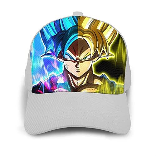 XCMG Printed Men Women Blue Son Goku Baseball Cap Adjustable Dad Hat for Outdoor Sport Activities