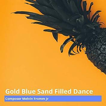Gold Blue Sand Filled Dance