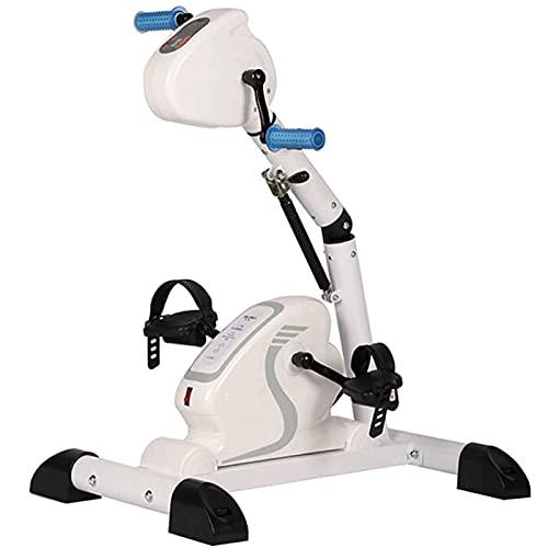 ZBQLKM Dispositivo de entrenamiento de la extremidad superior e inferior, máquina de ejercicios de pedal eléctrico, bicicleta de ejercicio reclinable con resistencia y barra de ajuste de ángulo de ext