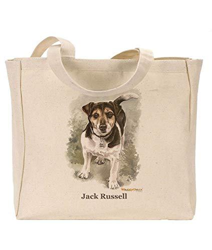 Waggy Dogz Jack Russell cd147, wiederverwendbar, umweltfreundlich, mit Zwickeln, ideales Geschenk, Hochformatbild von Christine Varley