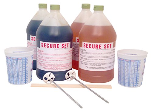 Secure Set - 20 Post Kit - Commercial Grade -4 Gallons. Fast, Secure & Safe Concrete Alternative for Easy Fence Post Installation.