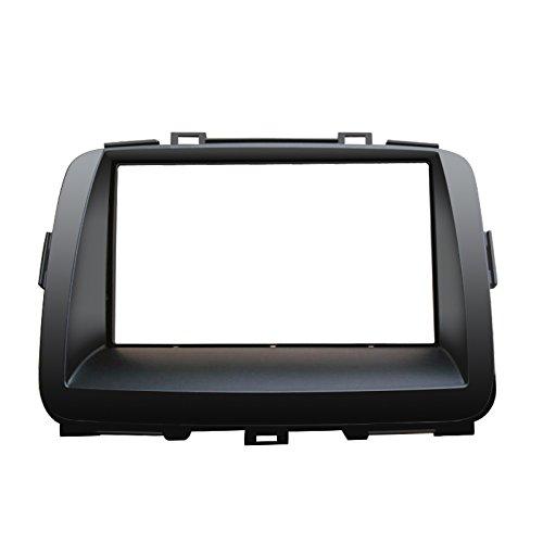 Feeldo de voiture double DIN DVD radio Façade Cadre Tableau de bord d'adaptateur de support Trim Kit