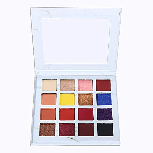 Oogschaduw Palet, professioneel 16-kleuren met oogschaduw palet Waterdicht poeder Natuurlijk gepigmenteerd naakt Smokey Eyes-palet