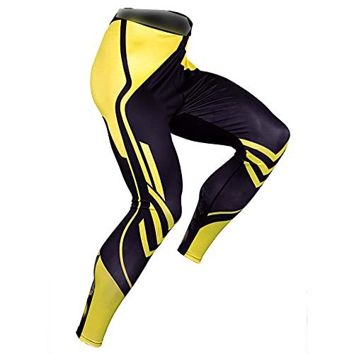 LaiYuTing Mallas Deportivas Hombre Fitness Correr Entrenamiento Pantalones De CompresióN De Fondo Secado RáPido Estiramiento Transpirable