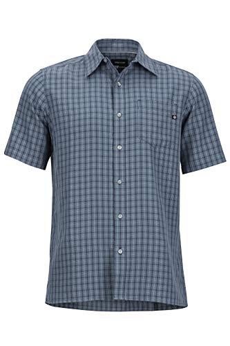 Marmot Herren Wanderhemd Eldridge Kurzarm Hemd, Steel Onyx, XL, 62220