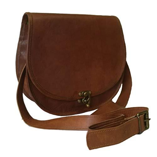 Mad Over Shopping, Damen echtes Leder kleine Umhängetasche Schlinge Vintage Crossbody Saddle Abend Geldbörse