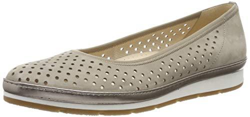 Gabor Shoes Damen Comfort Sport Geschlossene Ballerinas, Braun (Visone (Luxor/Gel) 33), 40.5 EU