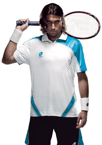Lotto - Tennis-Poloshirts für Herren in white/brook, Größe L (50)