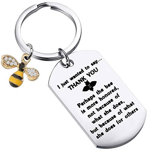 Honey Bee Charm Keychain