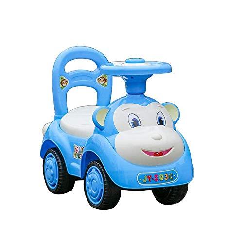 Juguetes de vehículos de construcción, Coche de Swing Red, Juguetes para niños Baby Twist Coche con música niños Deslizante Caminante Cuatro Ruedas YO Coche 1-3 años Twist Back Cars TINGG