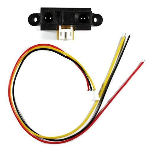 Sharp GP2Y0A21YK0F, 10-80cm, Distanzsensor / Abstandsmesser mit Anschlussleitung, z.B. für Arduino