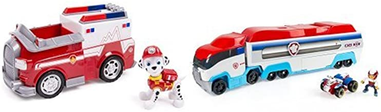 Paw Patrol Marshall's Ambulance with Figure and Paw Patroller Frustration-Free Packaging Bundle