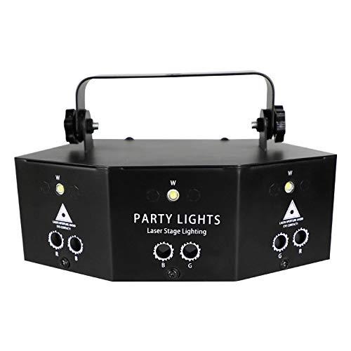 Aemiy luz estroboscópica profesional, 9 ojos, luz LED proyector luces de fiesta para bar, DJ, discoteca, cumpleaños, bodas, espectáculos en vivo con mando a distancia