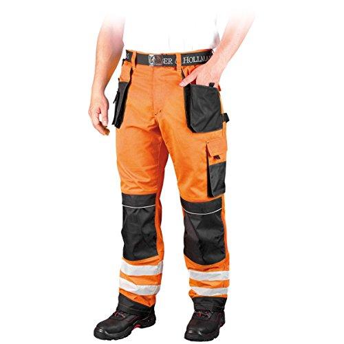 Leber&Hollman WARNSCHUTZHOSE LH-FMNX-T 46-62 Bundhose Schutzhose Arbeitshose Warnschutz Hose (52, Orange)