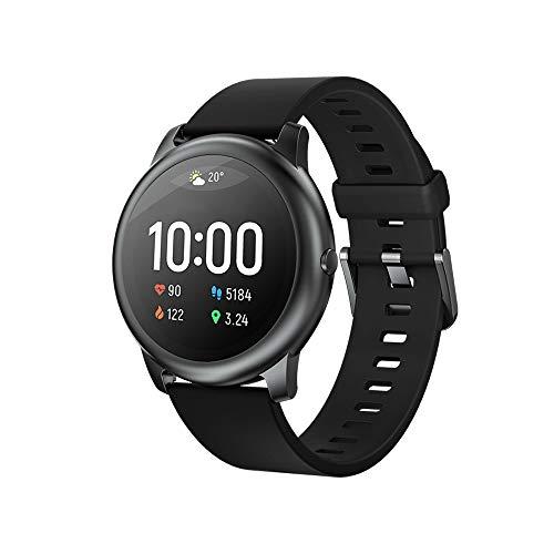 "Smartwatch Haylou LS05 Solar, Bluetooth 5.0, IP68, Tela 1.28"" HD - 2020 (Preto)"