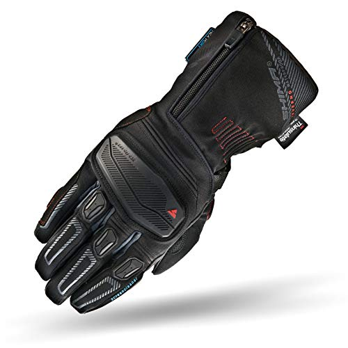 SHIMA Inverno Waterproof Armored Winter Long Leather Motorcycle Gloves, S