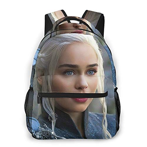 Ga-Me of Thro-NES Canvas Backpack School Bag Casual Travel Daypack Laptop Backpack for Adult Teen Student