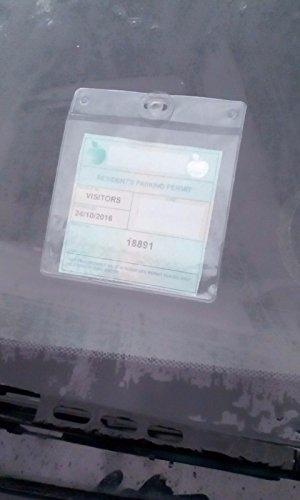 Packung von 2 großen Parkscheinberechtigung Inhaber für Auto Windschutzscheibe