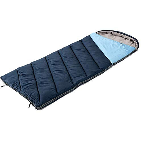 ZHDP Multifunction Sleeping,Bag Rectangular Sleeping Bag with Compression Sack Lightweight Waterproof for Warm Cold Weather 4 Seasons Camping/Traveling/Hiking/Backpacking Adults & Kids Azul