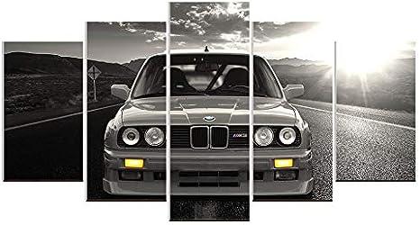 Karen Max Wandbild auf Leinwand, Ölgemälde, 5 Teile, BMW M3, Sportwagen, Landschaft, Heimdekoration, Poster Artwork Home Gifts Size…