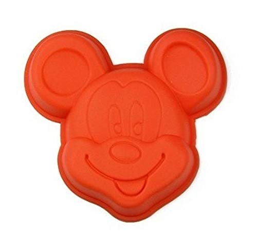 RJJX Home 1PC Mickey Maus-Silikon-Kuchenform/Einloch Backform Pudding DIY Küche Gebäck kitchenTool