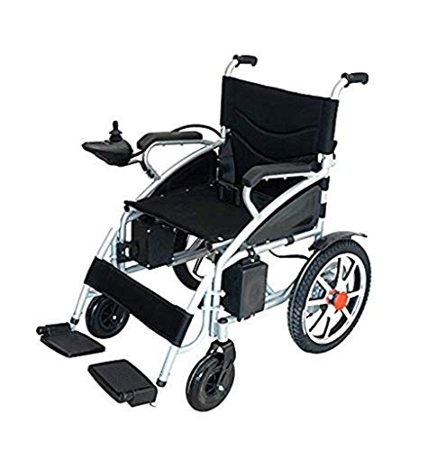 2020 Model Fold & Travel Lightweight Electric Wheelchair Motor Motorized Wheelchairs Electric Silla De Ruedas Power Wheelchair Power Scooter Aviation Travel Safe Heavy Duty Mobility Aids