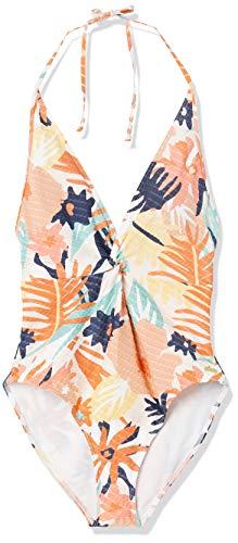 Roxy Junior's Swim The Sea One Piece Swimsuit, Peach Blush Bright Skies Sample, L