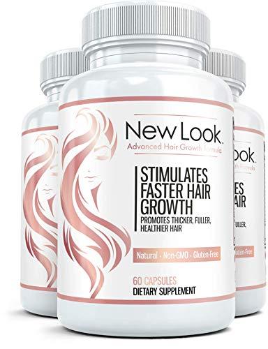 NEW LOOK Premium les cheveux, la peau & ongles Supplément (3 bouteilles) - Avancé beauté formule pour une belle peau, poils et sains et forts clous - 60 gélules par bouteille
