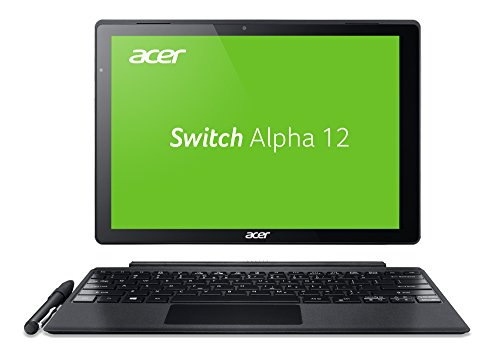 Portátil convertible Acer Switch Alpha 12 (SA5-271-5623) 30,5 cm (12 pulgadas QHD IPS) (Intel Core i5 – 6200U, 4 GB RAM, 128 GB SSD, gráficos Intel HD 520, win10) plata 512 GB SSD