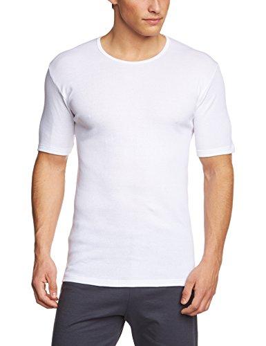 Calida Herren T-Shirt Cotton 1:1 Unterhemd, Weiß (Weiss 001), Large (Herstellergröße: L 52/54)