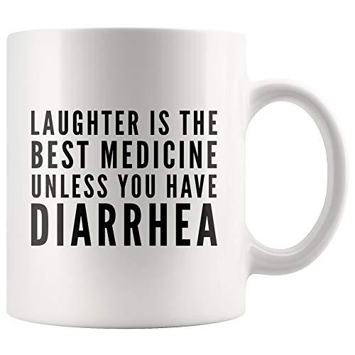 Get Well Cadeaus voor Mannen Vrouwen Lachen is De Beste Geneeskunde Tenzij je Diarree Koffie Mok 11 oz Chirurgie Herstel Ziekenhuis Geschenken