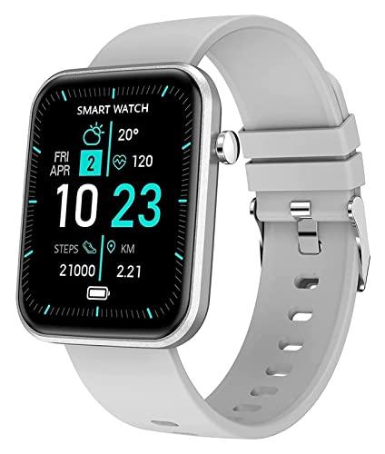 Elektronische Uhr Herren- Digitaluhr Fitness- Uhr mit Laufuhr mit Fitness- Uhr mit Mode Uhr Schrittzähler Uhr intelligente Damen Uhr elektronische Uhr Herren-Digitaluhr smart watch ( Color : Gray )